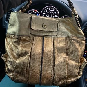 Authentic Chloe gold leather hobo